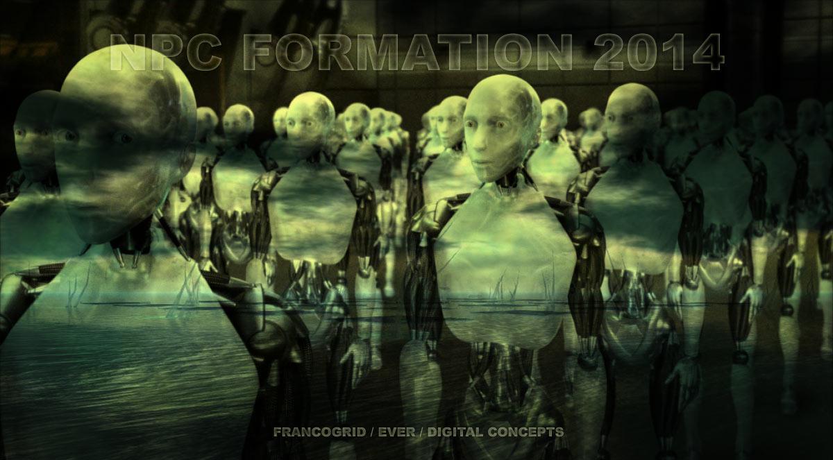 Illustration du cours de djphil sur les NPC : robots alignés